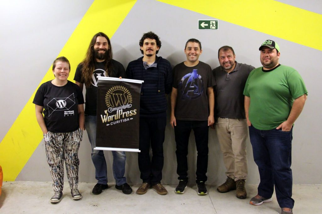 Participantes do WordPress Translation Day 4 em Curitiba